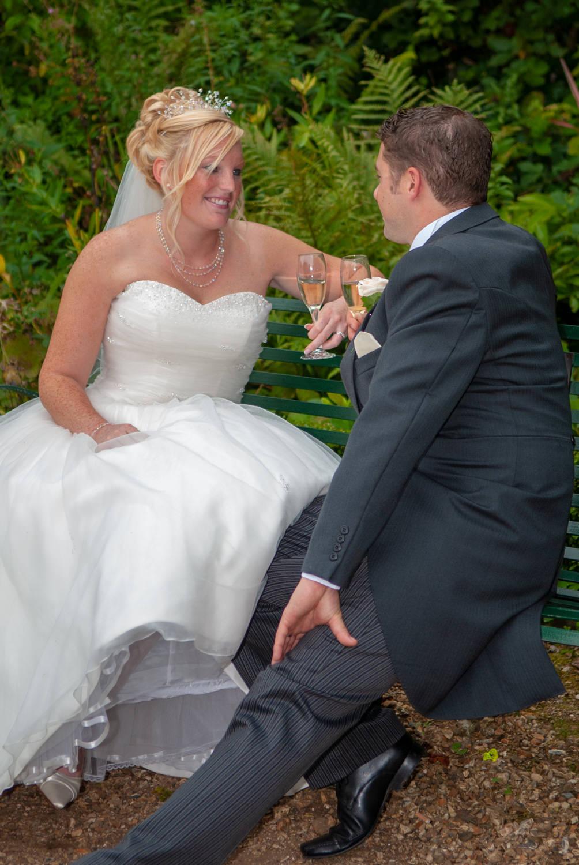 bride and groom romantic wedding shot